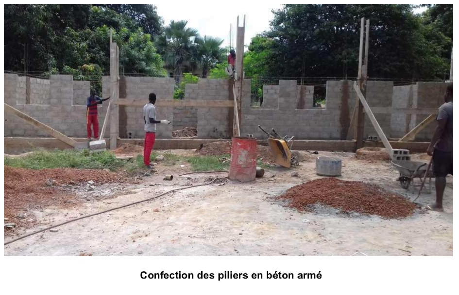 Construction of reinforced concrete pillars