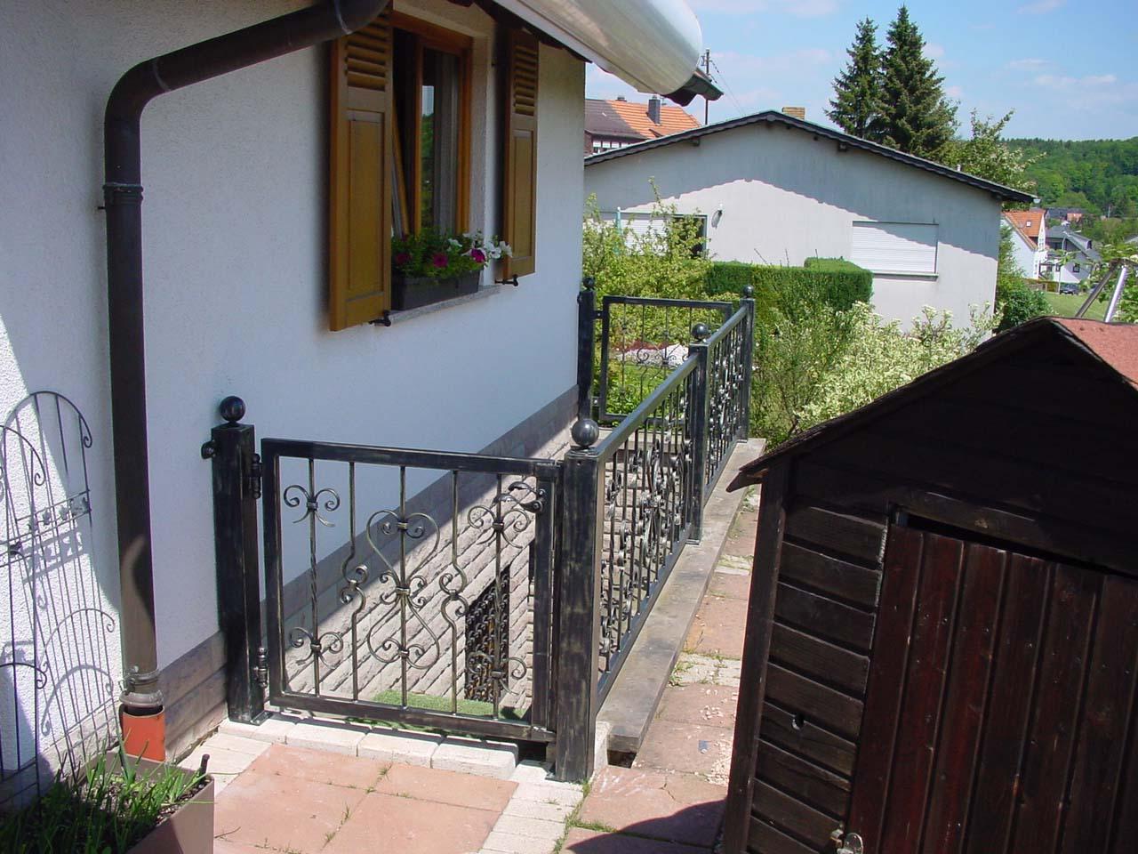 Door with railing