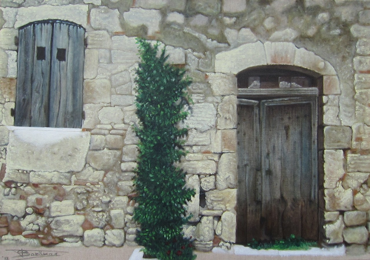 """""""Passage #10"""" (46x65)cm, Huile sur lin brut (2012) - Collection privée"""