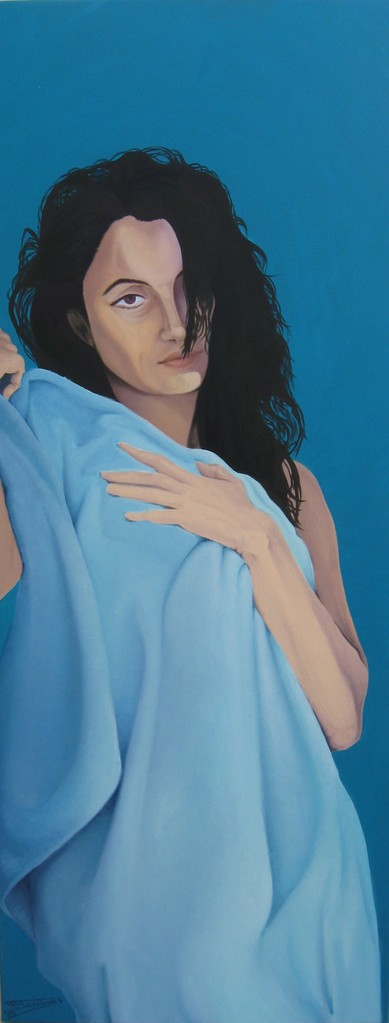 """Annunciation"" (55x140)cm, Huile sur lin"