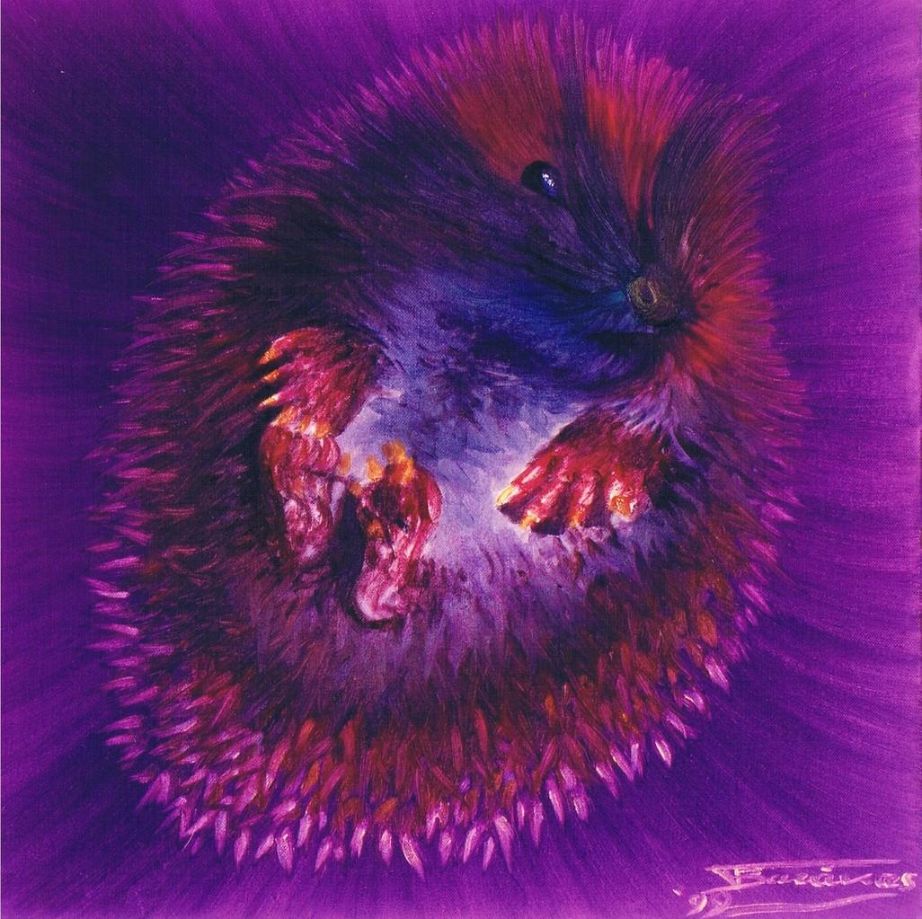 """""""Porcupine"""" (40x40)cm, Huile sur toile (1999)"""