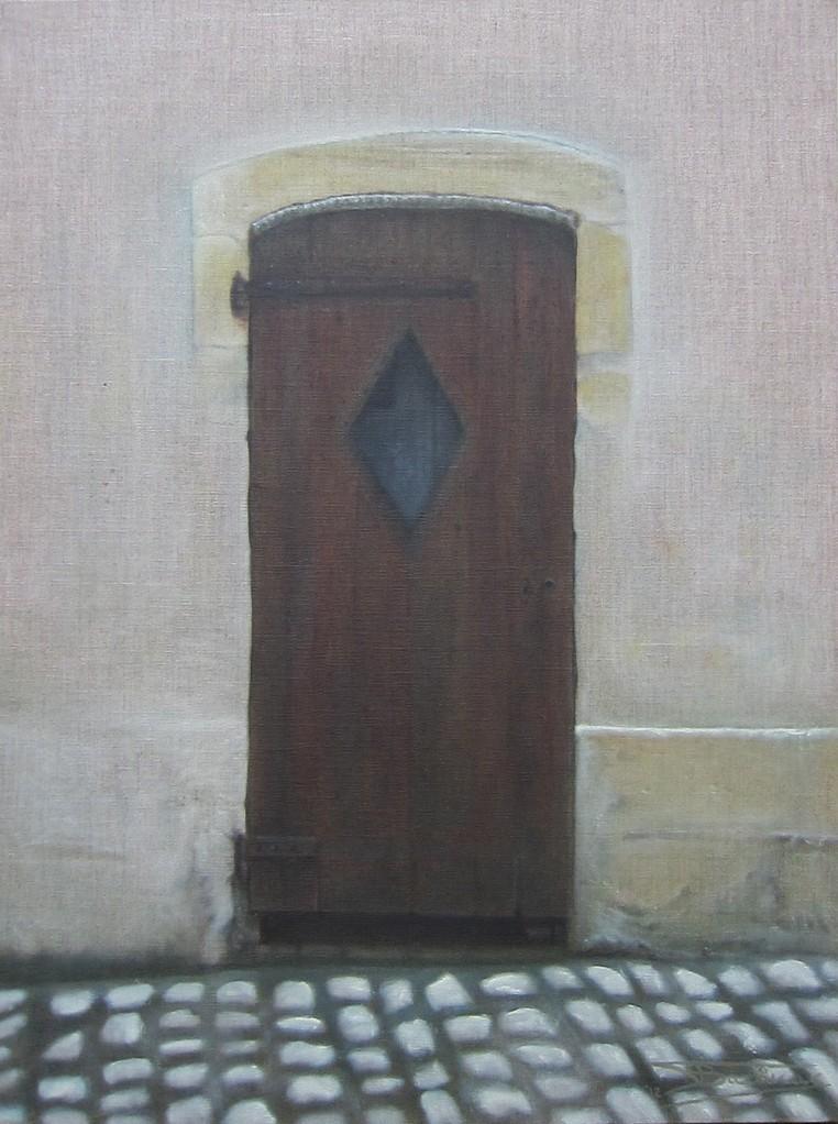 """""""Passage #6"""" (46x61)cm, Huile sur lin brut (2012)"""