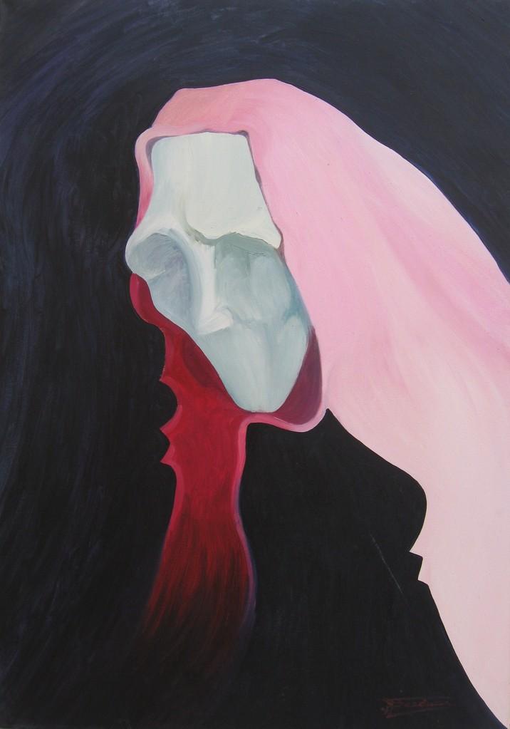 """""""Jack"""" (70x100)cm, Huile sur toile (1993)"""