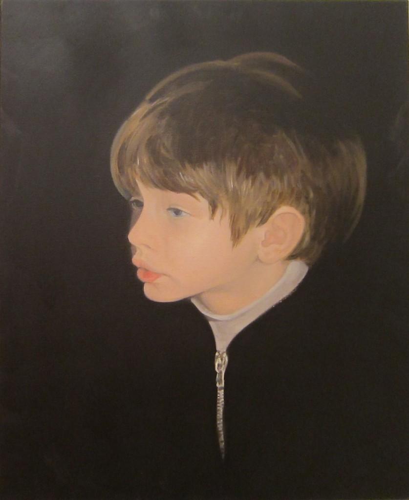 """""""Yiannis"""" (80x80)cm, Huile sur lin, 2004 - Collection privée"""