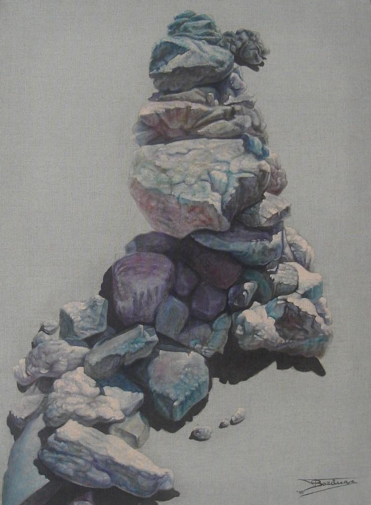 """""""Pierre Sèche #01"""" (60x81)cm, Huile sur lin brut (2010)"""