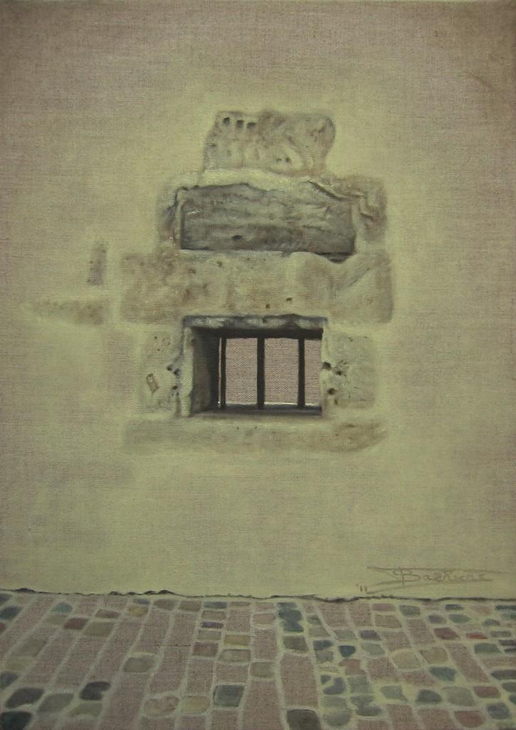 """""""Passage #2"""" (33x46) cm, Huile sur lin brut (2011) - Collection privée"""