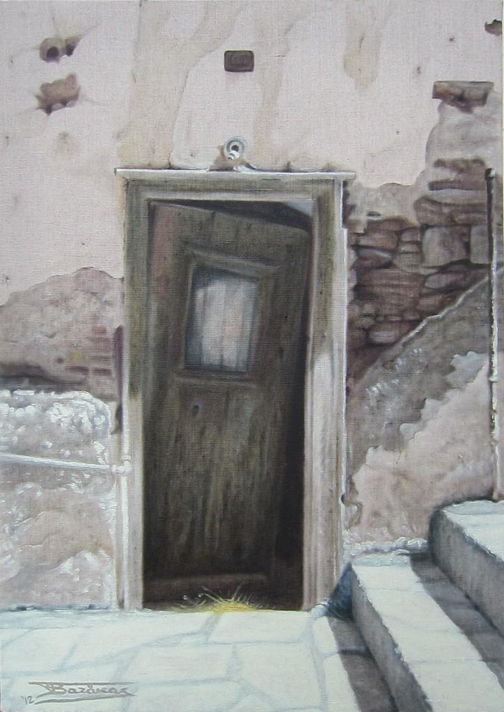 """""""Passage #11"""" (46x65)cm, Huile sur lin brut (2012)"""