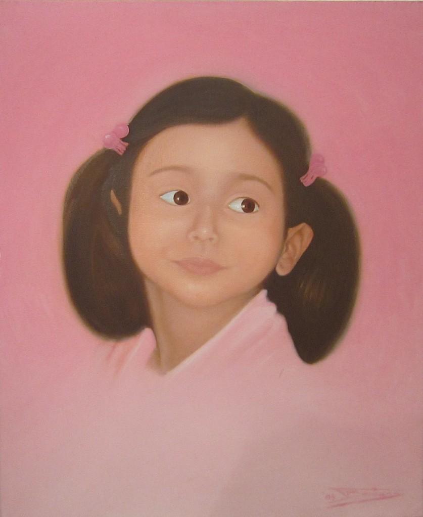"""""""Maria-Despina"""" (80x80)cm, Huile sur lin, 2004 - Collection privée"""