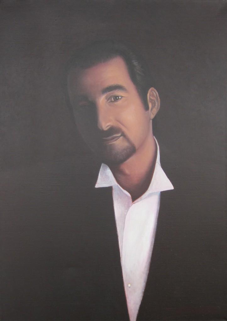 """""""Dimitris"""" (92x65)cm, Huile sur lin, 2011 - Collection privée"""