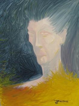 """Venus In Furs"" (50x70)cm, Huile sur lin"