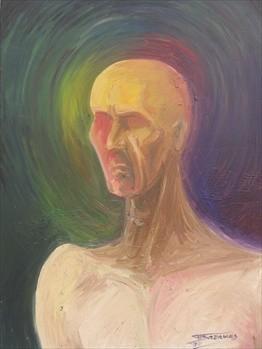 """""""Anger"""" (50x70)cm, Huile sur lin"""