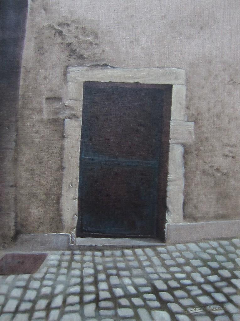 """""""Passage #7"""" (46x61)cm, Huile sur lin brut (2012)"""