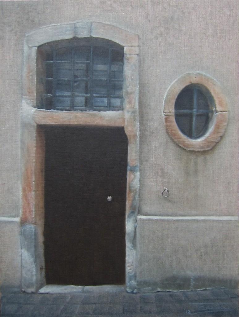 """""""Passage #5"""" (46x61)cm, Huile sur lin brut (2012)"""