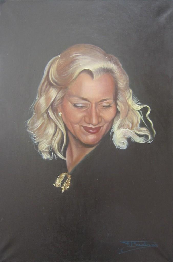 """""""Antoinette"""" (54x81)cm, Huile sur lin, 2012 - Collection privée"""