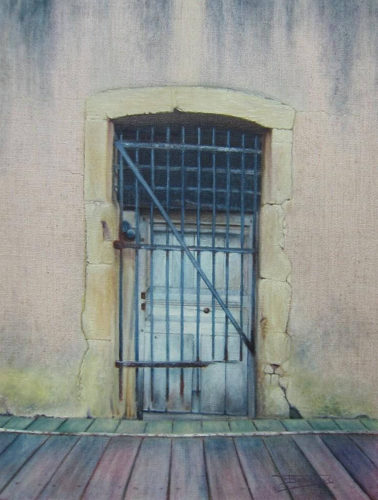 """""""Passage #8"""" (46x61)cm, Huile sur lin brut (2012)"""