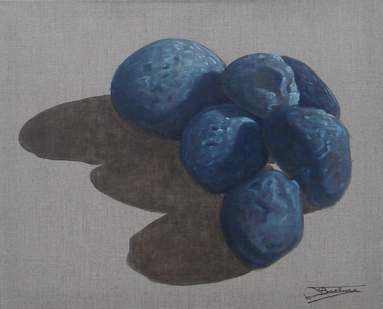 """""""Pierre Noire"""" (61x50)cm, Huile sur lin brut (2010) - Collection privée"""