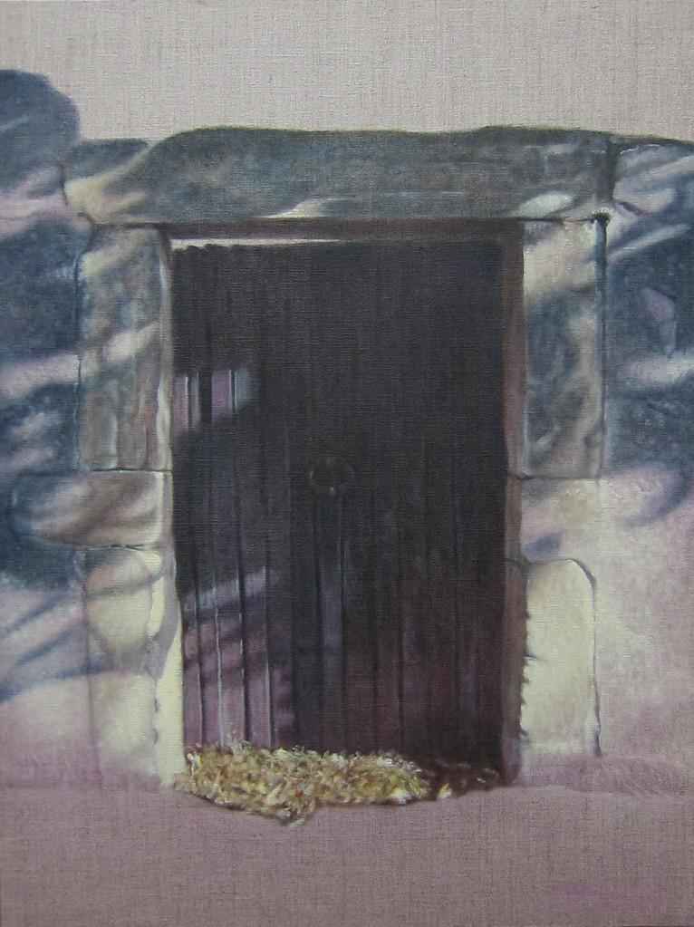 """""""Passage #4"""" (46x61)cm, Huile sur lin brut (2012)"""