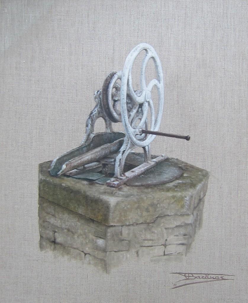"""""""Solitaire #0"""" (40x40)cm, Huile sur lin brut (2011) - Collection privée"""