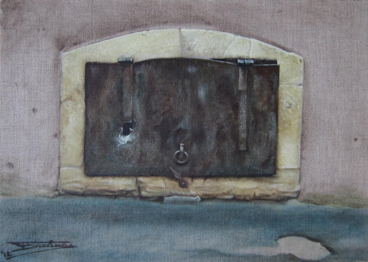 """""""Passage #3"""" (46x33)cm, Huile sur lin brut (2012) - Collection privée"""