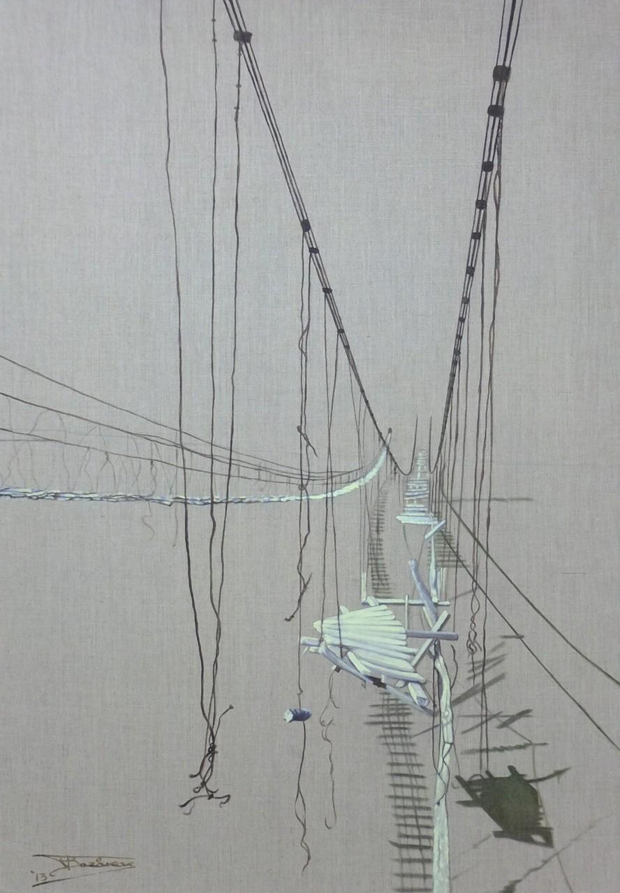 """""""Hope""""  (81x116)cm, Huile sur lin brut, 2013"""