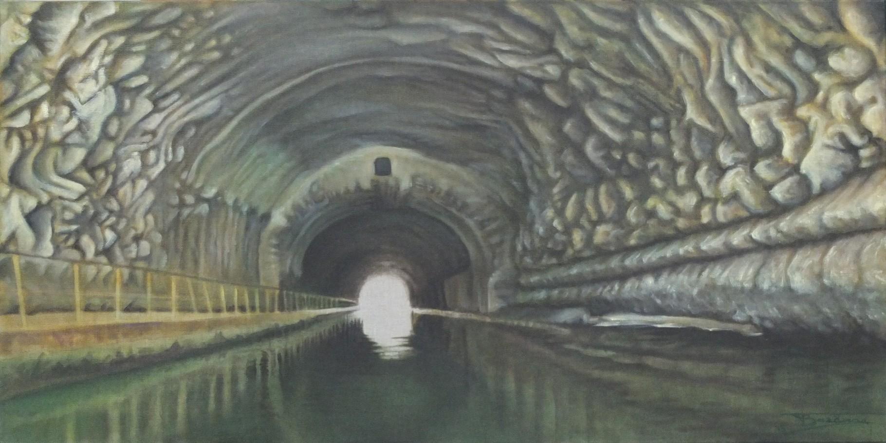 """""""Le Canal""""  (120x60)cm, Huile sur lin, 2013"""