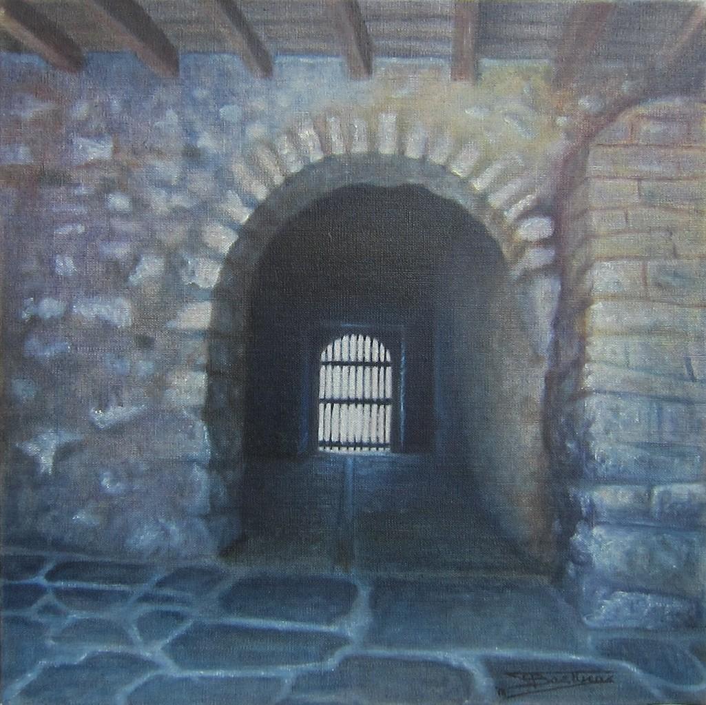"""""""Passage #14 (40x40) cm, Huile sur lin brut (2011)"""