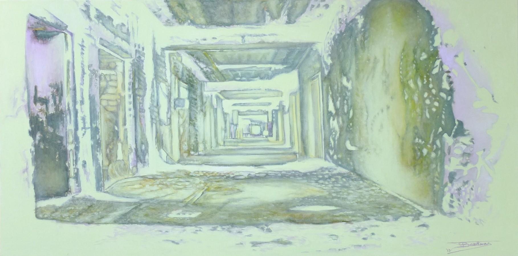 """""""Into the Light""""  (120x60)cm, Huile sur lin, 2013"""