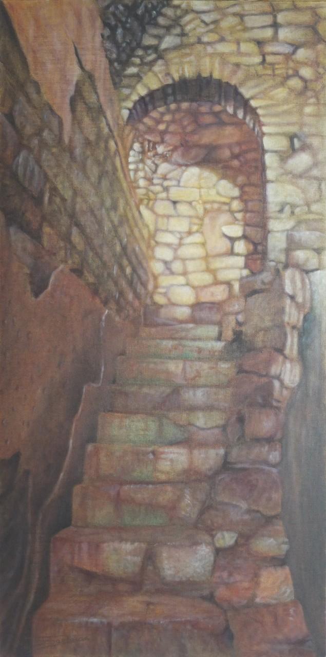 """""""Escape""""  (50x100)cm, Huile sur lin brut, 2014"""