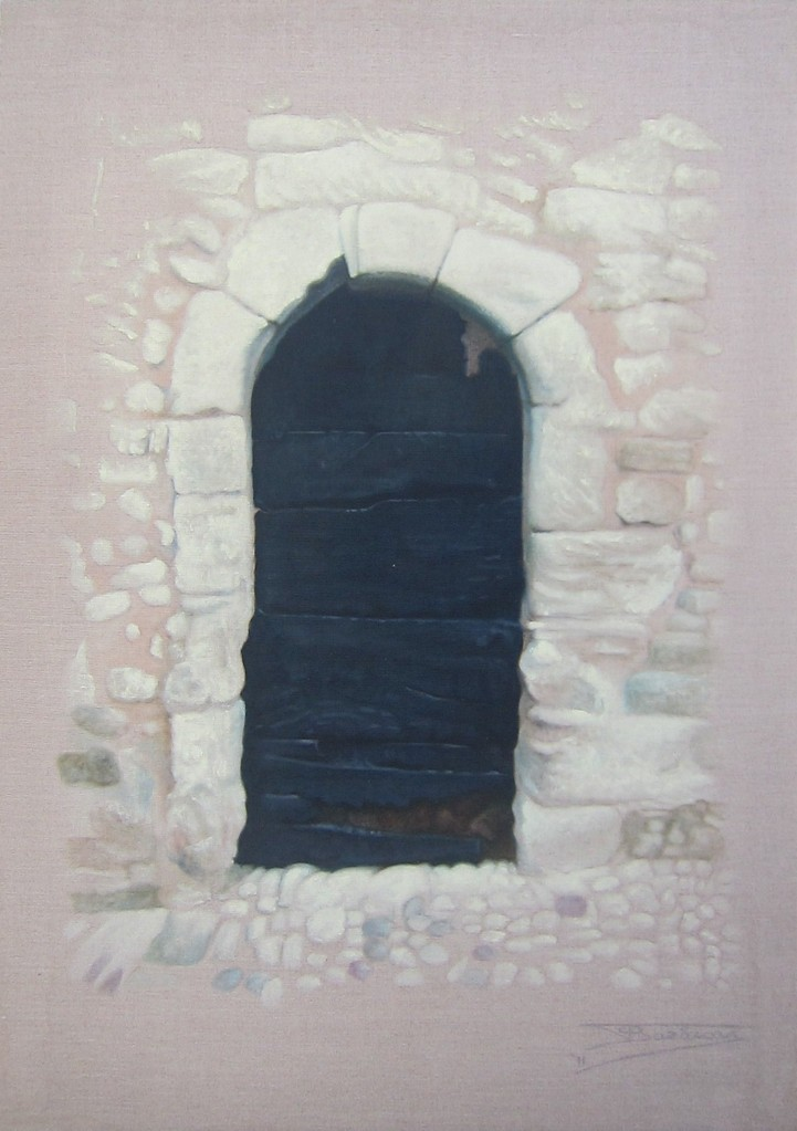"""The Black Door"" (65x92)cm, Huile sur lin brut (2011)"