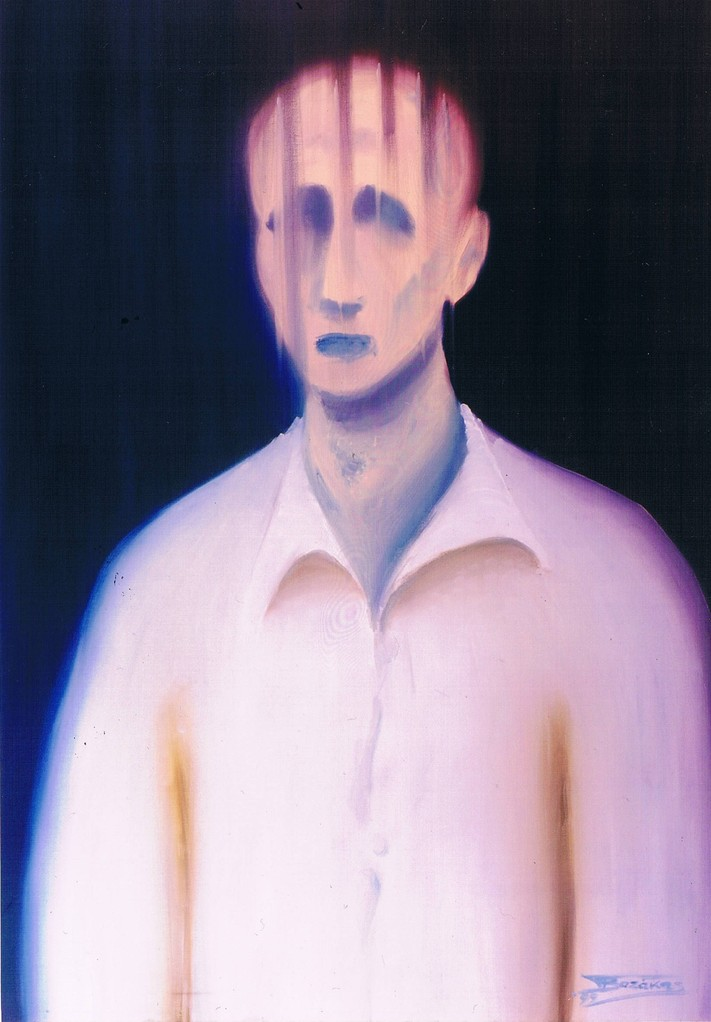 """The White Shirt"" (70x100)cm, Huile sur lin (1999)- Collection privée"
