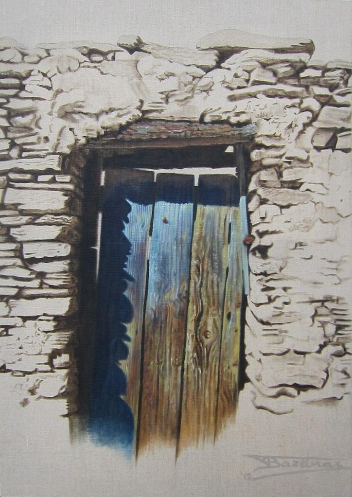 """""""Passage #13"""" (46x65)cm, Huile sur lin brut (2012)"""