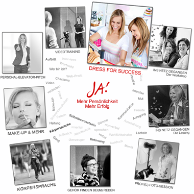 Übersicht der Workshop-Angebote von JA!-PERSONALITY.