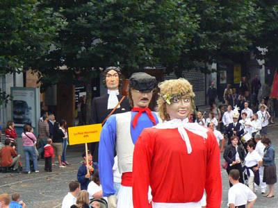 Nos géants aux Fêtes de Wallonie en 2006 à Liège