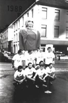 Participation de Rinette aux 24h à pied d'Ath en 1988