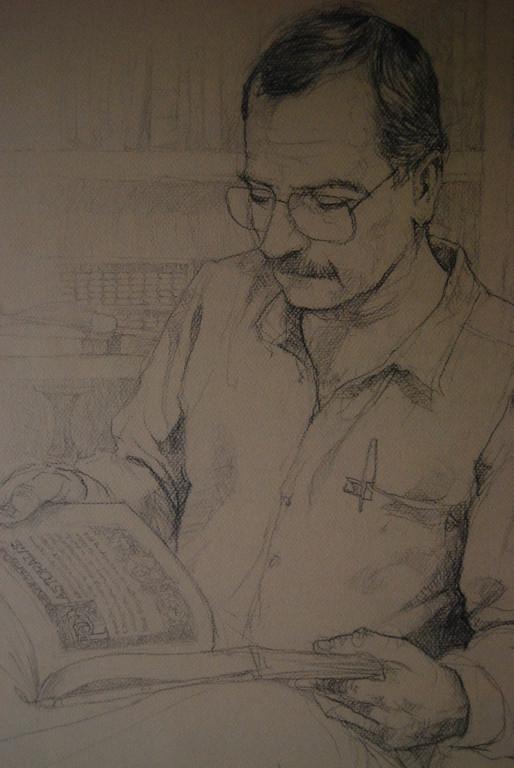 Retrato de Octavio Hernández J. Lápiz de Carlos Augusto Buriticá (Mzles)