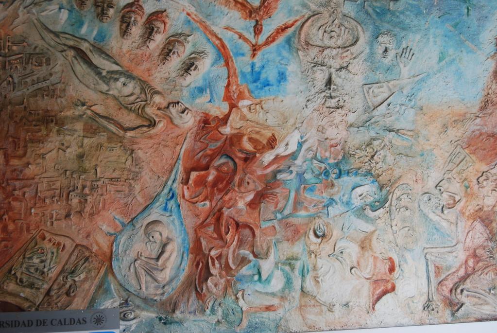 Mural en el vestíbulo central, obra de John de Greck.