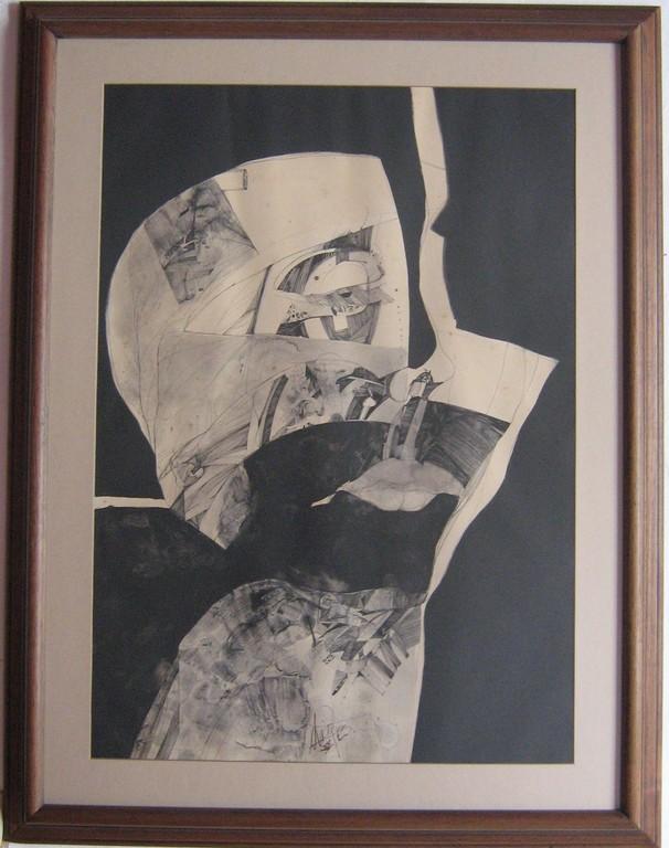 Anatomía falsa, tinta sobre papel, obra de Bernardo Arias (Aranzazu)