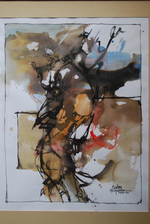 Acuarela en abstracto. Obra de Carlos Augusto Buriticá (Mzles)
