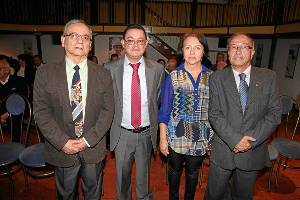 Fotos | Argemiro Idárraga | LA PATRIA Octavio Hernández Jiménez, Ángel María Ocampo Cardona, María Ofelia Parra Rudas y Jorge Eliécer Zapata Bonilla.