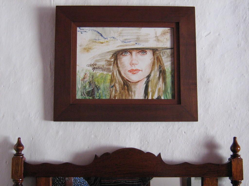 Retrato, Óleo sobre papel de Adolfo Peña (Mzles)