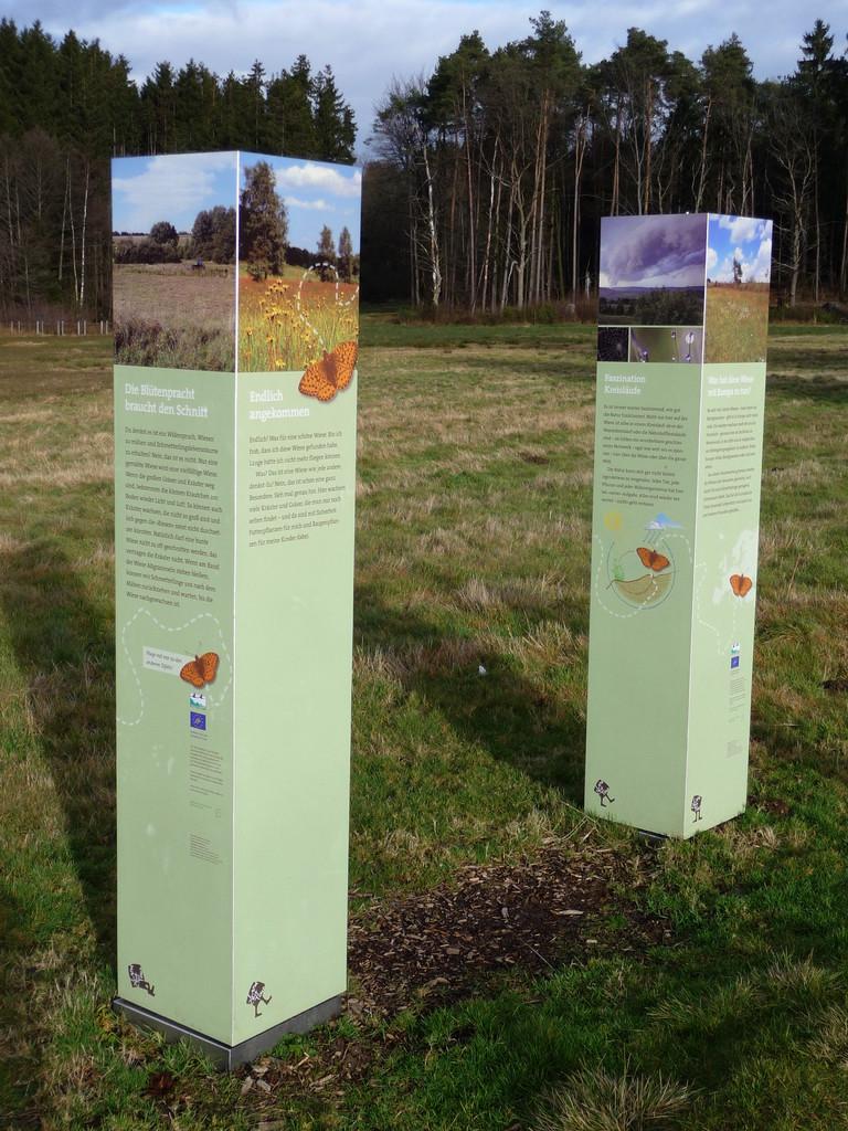 Schautafeln erläutern die Landschaftsgeschichte