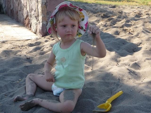 sandspielen mag ich nicht... ich mag den sand nicht
