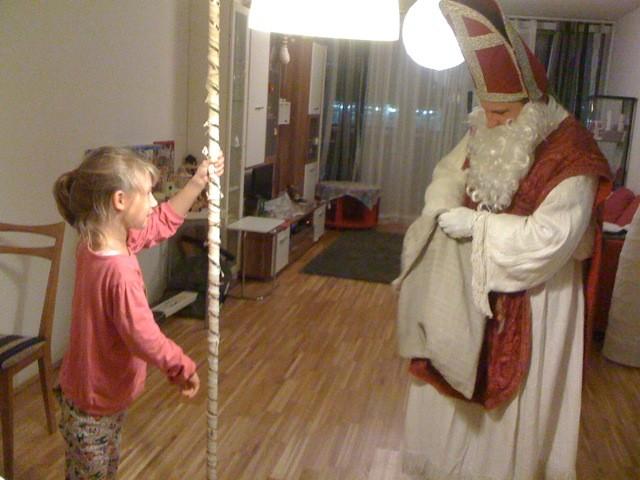 Der Nikolaus war auch heuer wieder bei mir und hat mich sehr gelobt!