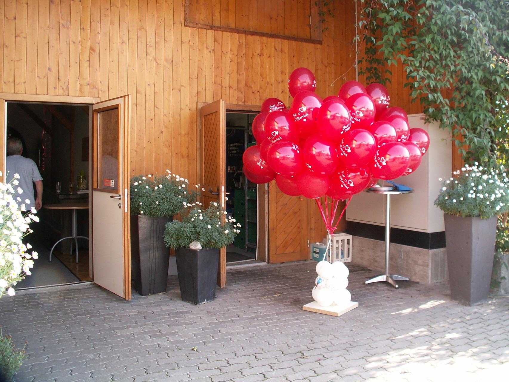 Heliumballons mit Gewicht