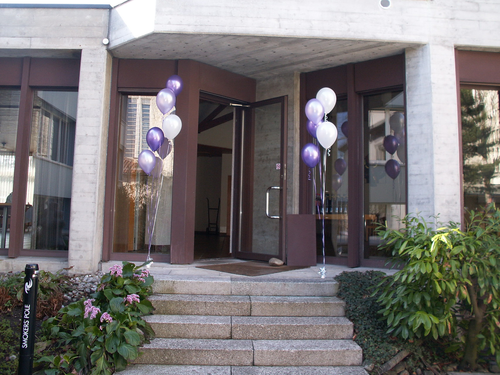 Heliumballons an Eingang