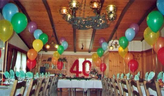 Geburtstagdekoration