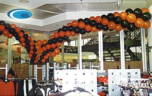 Klassische Girlanden mit Luft oder Helium gefüllt