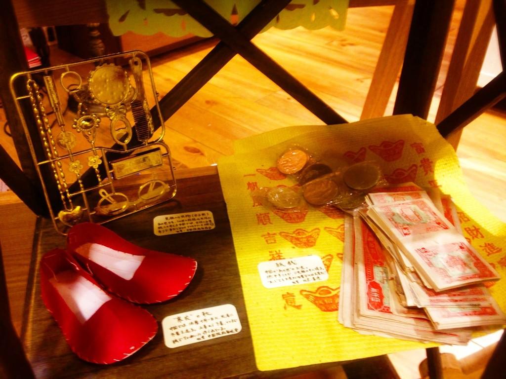 中国の「お盆」グッズ。あの世でも靴やお金、身だしなみグッズが欠かせない。(中国フィールドワークで採集)