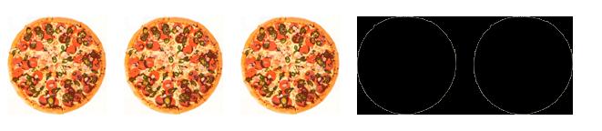 3 von 5 Pizzen mit Extra-Käse.