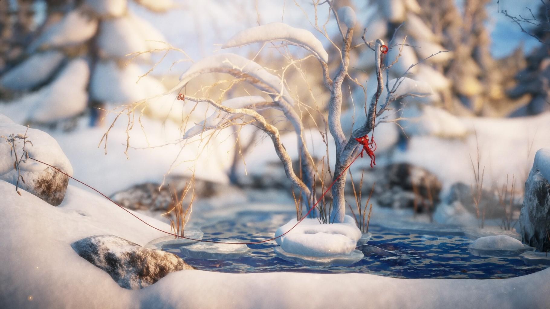 ...schwingt sich durch Schneelandschaften...